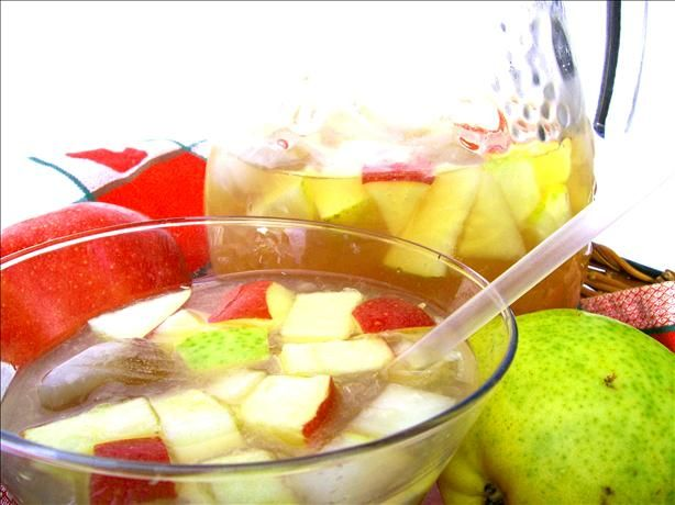 Non-Alcoholic Sangria from Food.com:   non-alcoholic Sangria in an old Ladies' Home Journal magazine.  It is a great refreshing fruit drink to serve for a back yard barbecue or a Tex-Mex Southwest dinner.