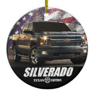 2014 Silverado 1500 Crew Cab Texas Edition Ceramic Ornament