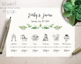 Customized Wedding Weekend Timeline  Printable by TheBigDayPapers