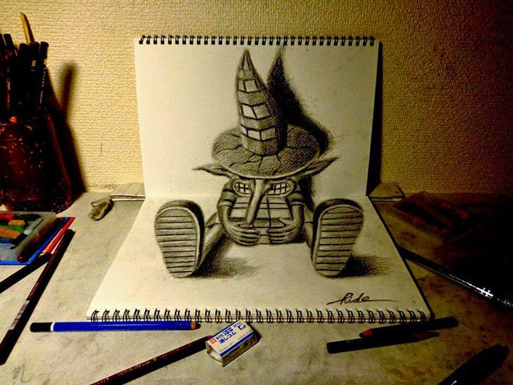 Nagai hideyuki from japan uses a pencil to conjure up amazing drawings