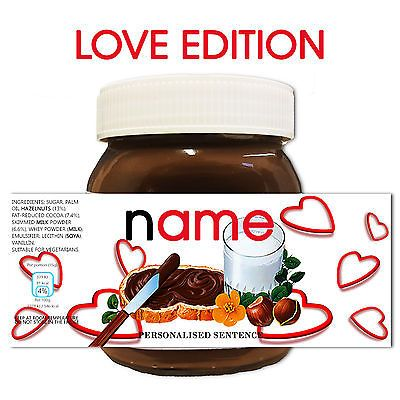 #Personalised #novelty anniversary gift #nutella label for him her,  View more…
