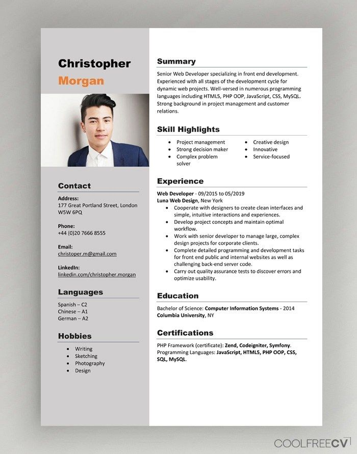 Cv Resume Templates Examples Doc Word Download Free Cv Template Word Cv Template Word Resume Template Word