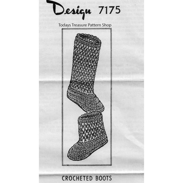 48 besten Crochet Slippers, Socks & Boots, Vintage Bilder auf ...