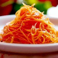 Korean style carrot (Kimchi carrot) http://www.myrussianfood.com/finger-foods/korean-style-carrot