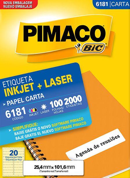 PIMACO - Inkjet + Laser - 6181 - Carta 100 folhas