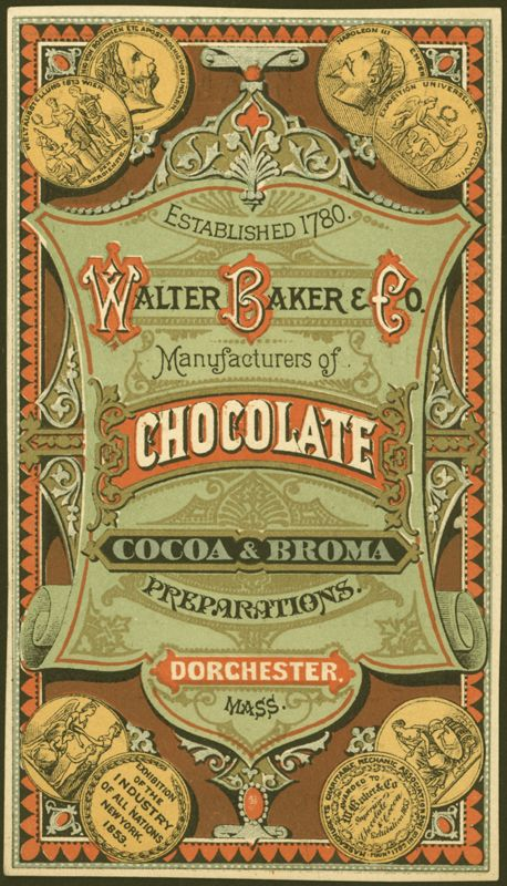 Walter Baker & Co. chocolate advertising trade card