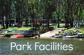 Grassed riverfront, peaceful bush setting, water skiing, slalom course, boat ramp, fishing, giant jumping pillow, go-karts, playground, basketball/tennis court, mini golf, camp kitchen, conference facilities, BBQs undercover, solar heated resort pool & water splash park and Pontoon Hire Boat. #big4deni #holiday #holidaywithkids #holidaywithdogs #caravaning