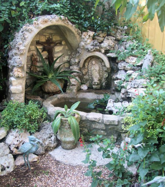 Beautiful garden grotto