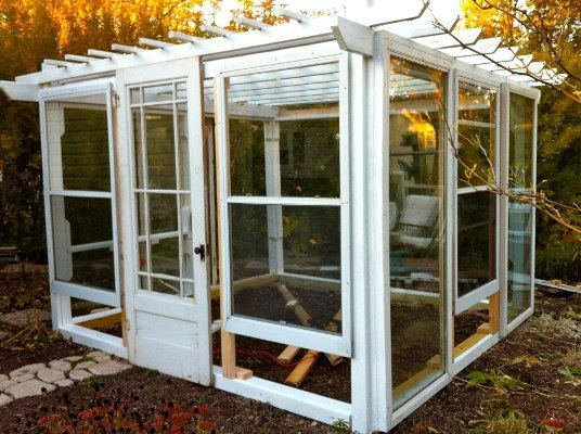 Upcycling old windows and doors to make a garden dream for Recycled windows and doors