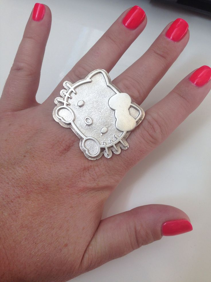 Sterling Silver Hello Kitty Ring -2