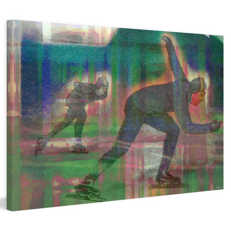 Marmont Hill Speed Skate Painting on Wrapped Canvas - MHSC-31-C-18