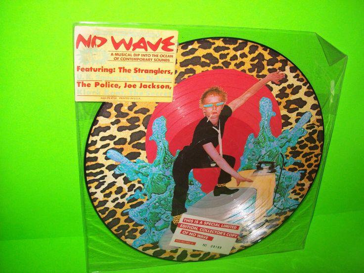 NO WAVE TO GO 1978 VINYL PICTURE DISC THE DICKIES STRANGLERS POLICE KLARK KENT #NoWave #PostPunkRecords.com
