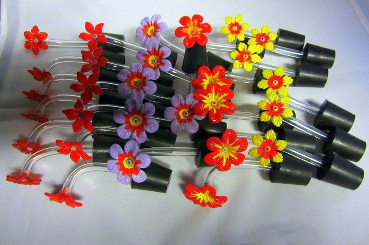 Hummingbird feeder tubes set of 30..mix flower...#5X6