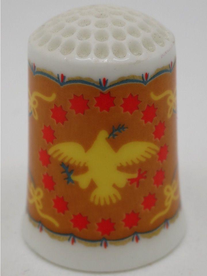 Eagle circa 1853. The American Heirloom Quilt Collection. Franklin Porcelain. Thimble-Dedal-Fingerhut.