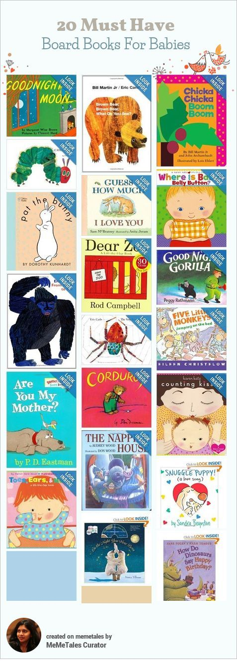 A list of the best board books for babies!