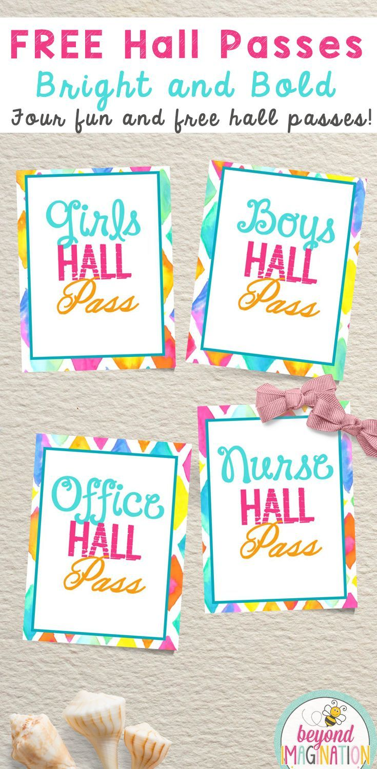 image about Hall Passes Printable called Corridor Pes Essential Heart College Free of charge Clroom