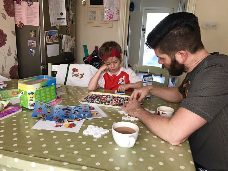 """""""This is quite possibly the most de-stressing activity to do after a long day! Family HAMA time..."""" - We're pleased to see the Easter half term holidays being spent with family time and creativity in the @mummyconstant household!"""