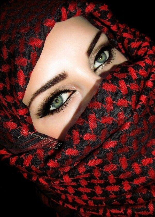Картинка красивая глаза мусульманкам