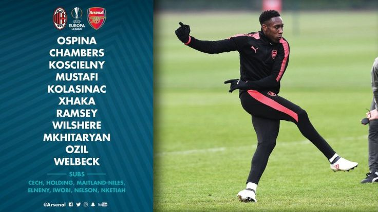 Arsenal Lineup Against AC Milan Revealed