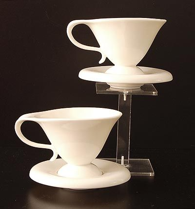 Porcelain cups saucers 2x Polignac design Bořek Šípek ca.1996 executed for Driade