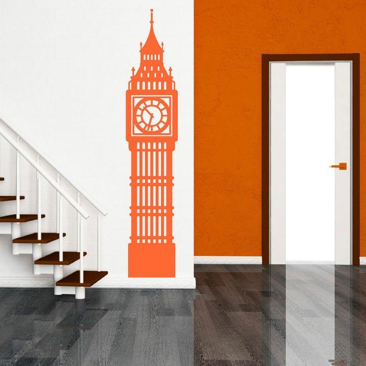 N246 Big Ben Londra Orologio Parete en Vinile ARTE Adesivo Decorazione BIG BEN de LONDRES DEL RELOJ de Arte de La Pared Pegatinas de Pared En Casa decoración(China (Mainland))
