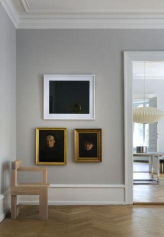 gold and white framed art