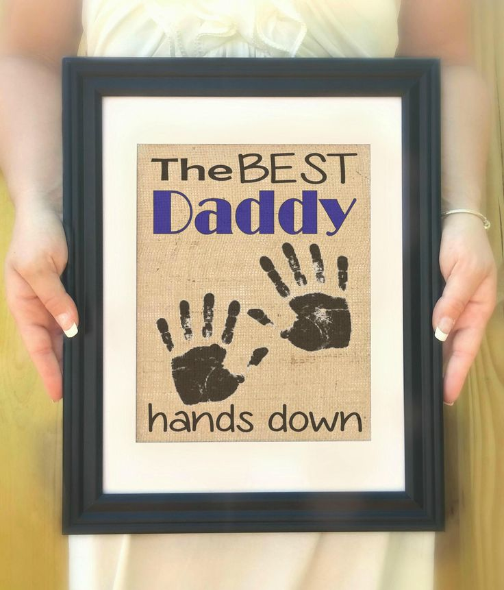 Best Daddy Gifts - Gifts for Daddy, Personalized Father's Day Gift from Kids, Handprint Art, Best Daddy Ever, Birthday Gift. Father's Day by Allaboutthenames on Etsy