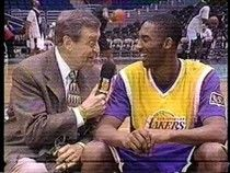 Chick Hearn interviews Kobe Bryant after 1st start with the Lakers