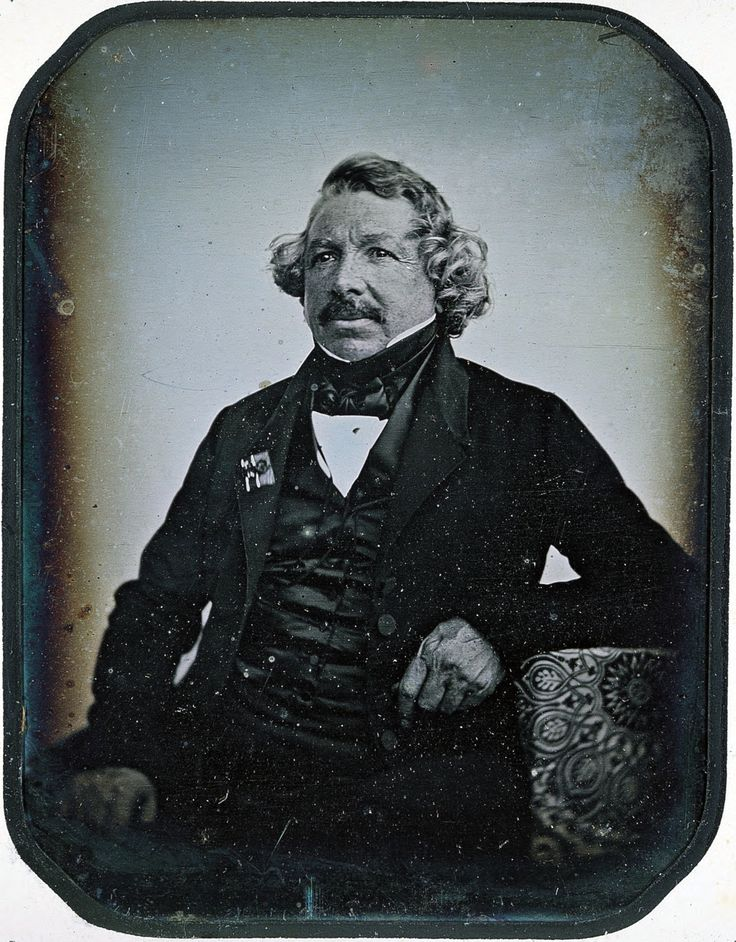 Louis Daguerre (1787-1851) was a French artist and physicist, recognized for his invention of the daguerreotype process of photography. He became known as one of the fathers of photography. Though he is most famous for his contributions to photography, he was also an accomplished painter and a developer of the diorama theatre.