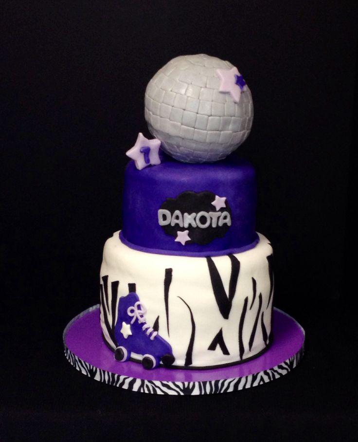 Roller skate cake, disco cake, zebra print cake, www.facebook.com/thecakediva386