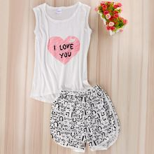 Women Sexy Lingerie cute cartoon Pyjamas Sleepwear Shirts+Shorts Underwear Nightwear Set Women Pyjamas Sleeveless Pajamas Set♦️ B E S T Online Marketplace - SaleVenue ♦️👉🏿 http://www.salevenue.co.uk/products/women-sexy-lingerie-cute-cartoon-pyjamas-sleepwear-shirtsshorts-underwear-nightwear-set-women-pyjamas-sleeveless-pajamas-set/ US $2.98