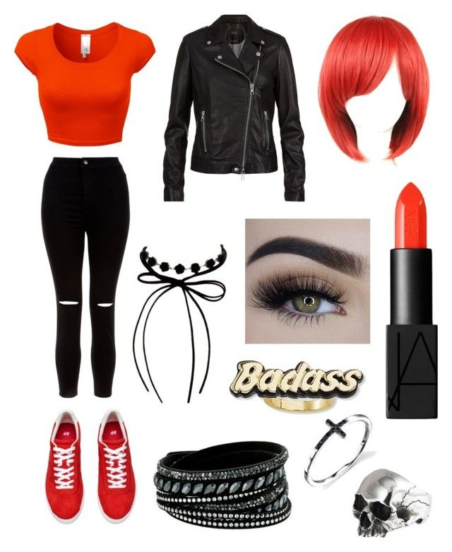 Castiel by olahtory on Polyvore featuring polyvore, fashion, style, SET, New Look, Swarovski, Steve Madden, Erica Lyons, NARS Cosmetics and clothing