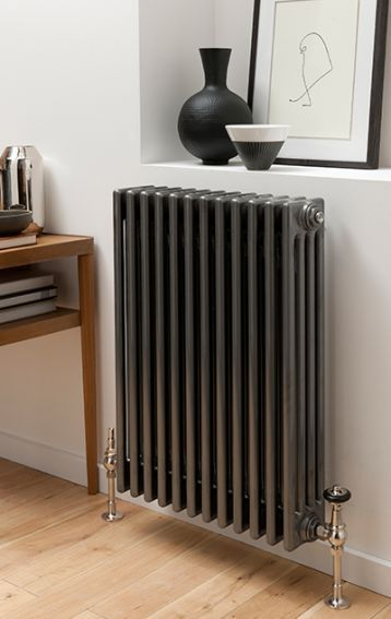 Grey classic radiator from the Radiator Company. 4 weeks order time, choose number of sections and exact size.
