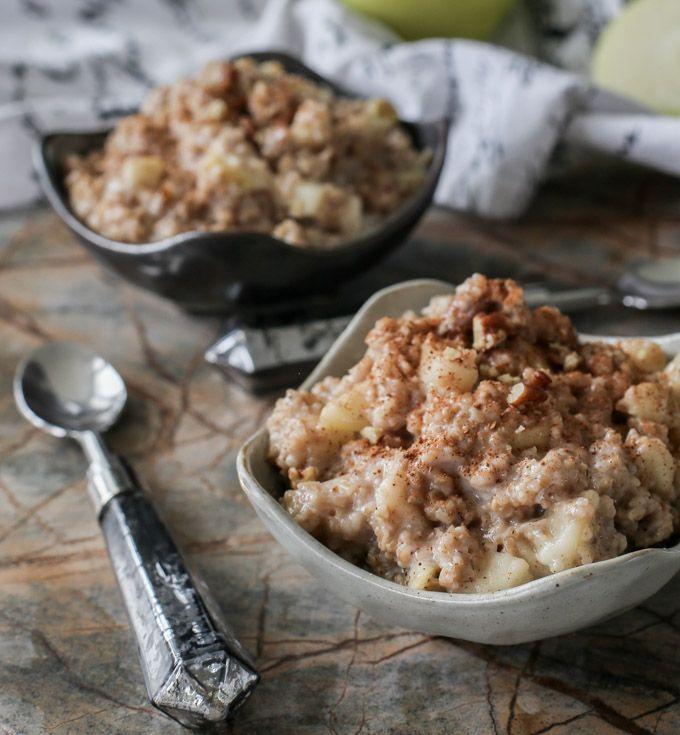 Never Skip Breakfast Again With 5-Minute Apple Pie Oatmeal.