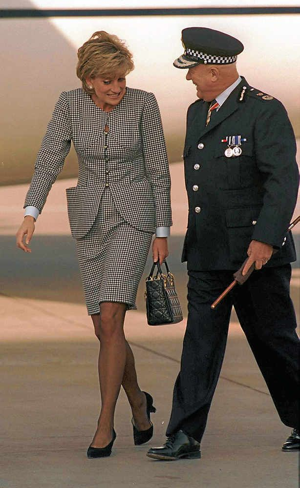 Princess Diana with Sir Ronald Hadfield during a visit for the opening of the Foundation for Conductive Education in 1995.