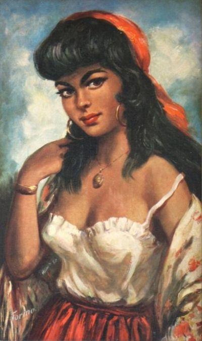 Het zigeunermeisje van Torino uit de 60's | zo fout dat ik er dol op ben ;-)