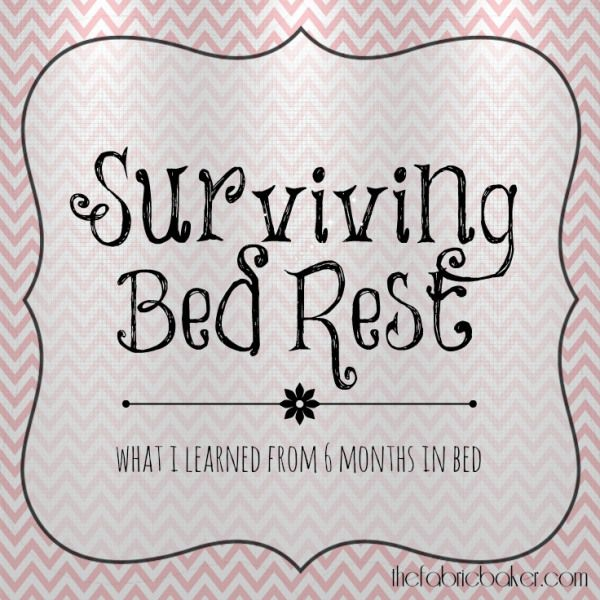 Surviving Bed Rest - Keeping Busy on Bed Rest.  Tips and time passing activities for anyone confined to a bed or restricted movement.  This is how I survived bed rest at home and in the hospital.