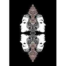 "Juliste ""Kiemuranaama, pinkki"" - A4, A3, 50x70cm"