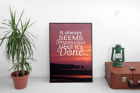 Motivational Quote. Typography. Design Instant by LiveDreamDesign