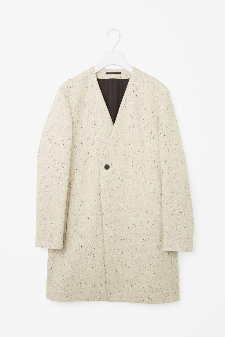 COS   Collarless melange coat
