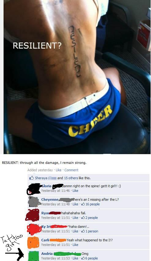 Resilent? tatoo fail