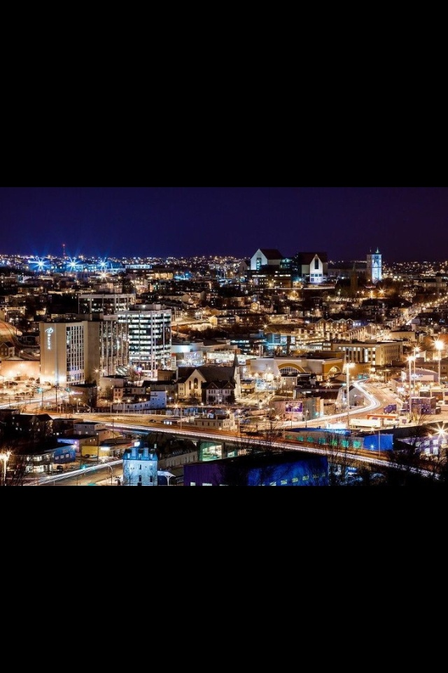 St. John's at night!! absolutely beautiful.