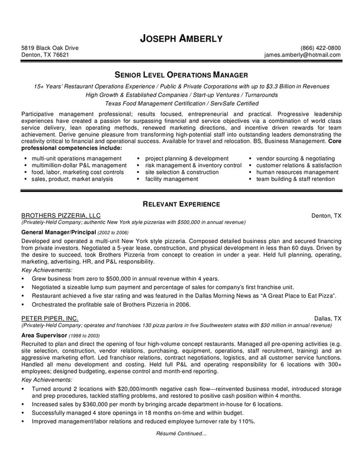 Food Production Manager Resume Sample - http://www.resumecareer.info/food-production-manager-resume-sample/