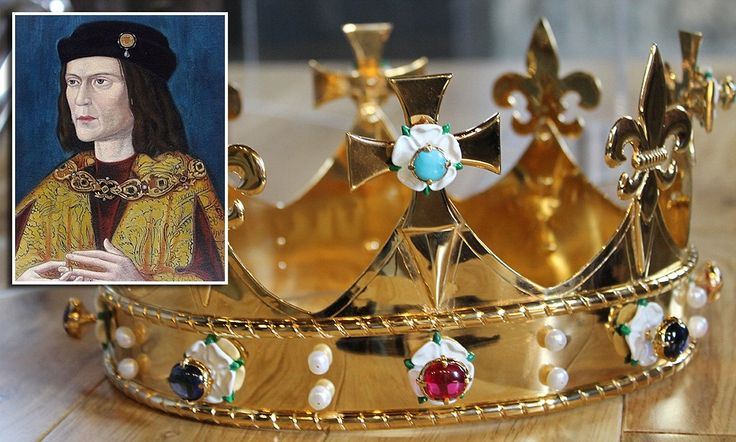 Richard III finally gets a 'funeral crown' was commissioned by a leading historian who was involved in the archaeological dig that discovered Richard III remains beneath a car park