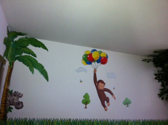for Curious george wall mural