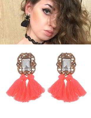 Tassel Earrings Orange | Anting | habibstore3.com Grosir Fashion Termurah dan Terbesar di Indonesia