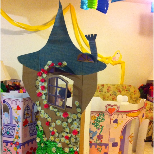 how to make a rapunzel tower out of cardboard