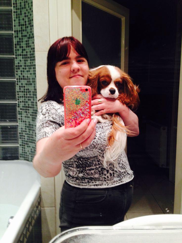 Já A Můj Nejmilovanější Pejsek Charlie Včera V Koupelně Koupelce/Me And My Most Lovely Beloved Dog Charlie Yesterday In Bathroom (30.3.2015)