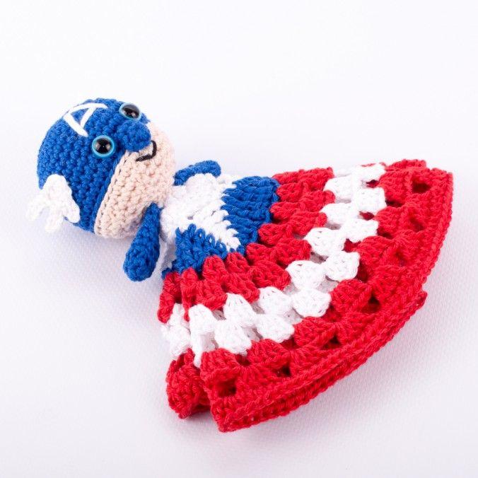 Free Amigurumi pattern Captain America Snuggle