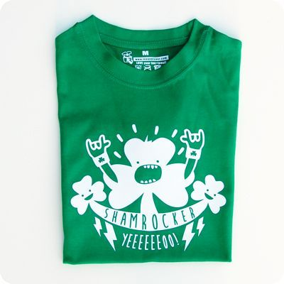 irish shamrocker kids t-shirt. get ready for st patrick's day! by teeandtoast.com